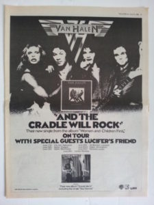 1980 Single and Tour Ad