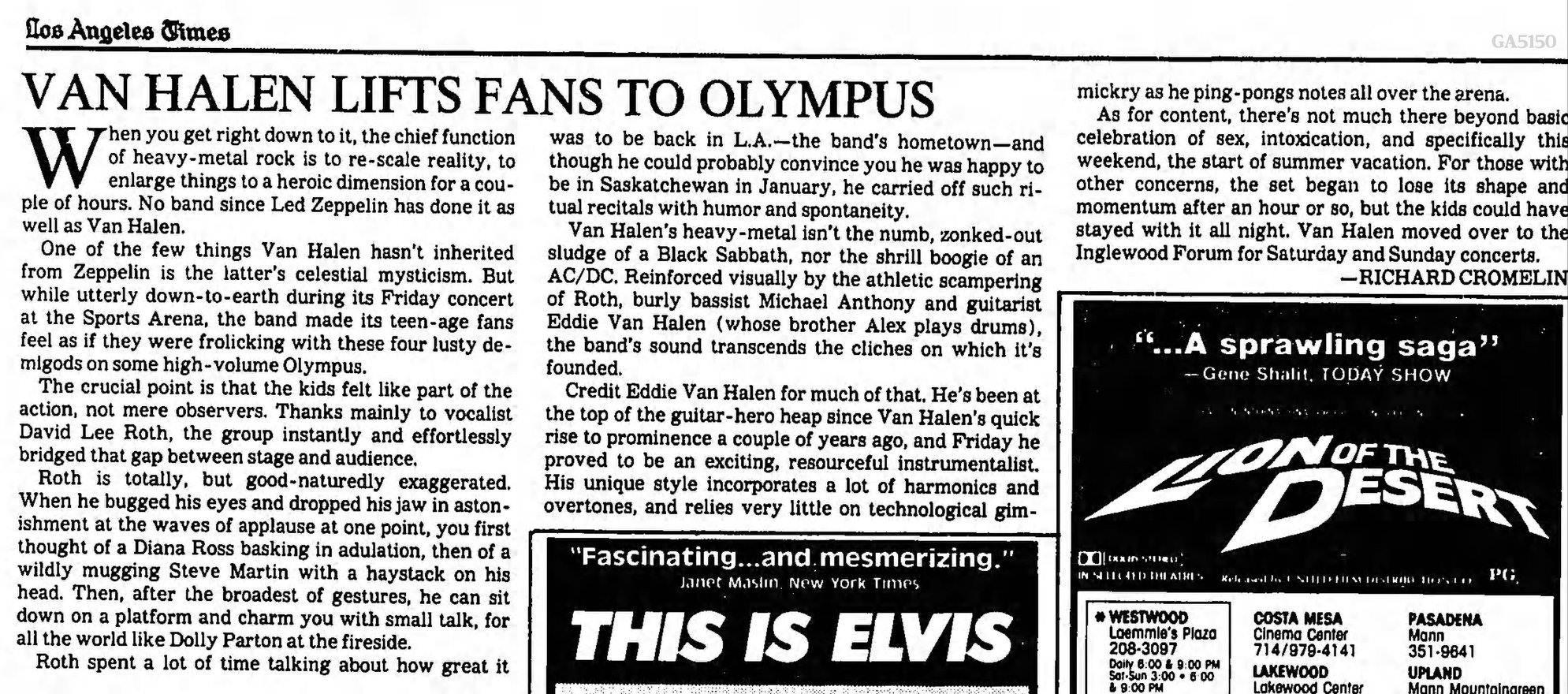 6/19/1981 LA Times Review