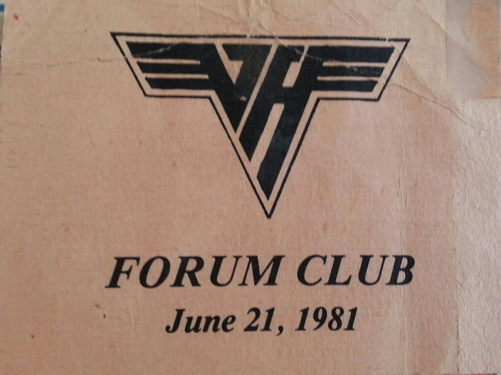 6/21/1981 Forum Club pass