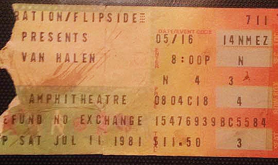 7/11/1981 Ticket