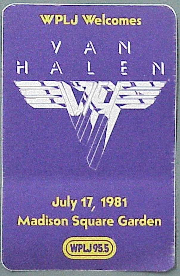 Van Halen 1981 Nyc Ny Madison Square Garden