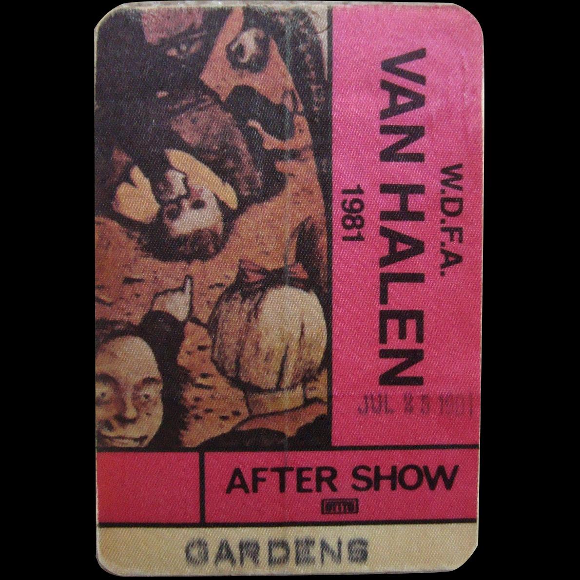 7/25/1981 Van Halen pass