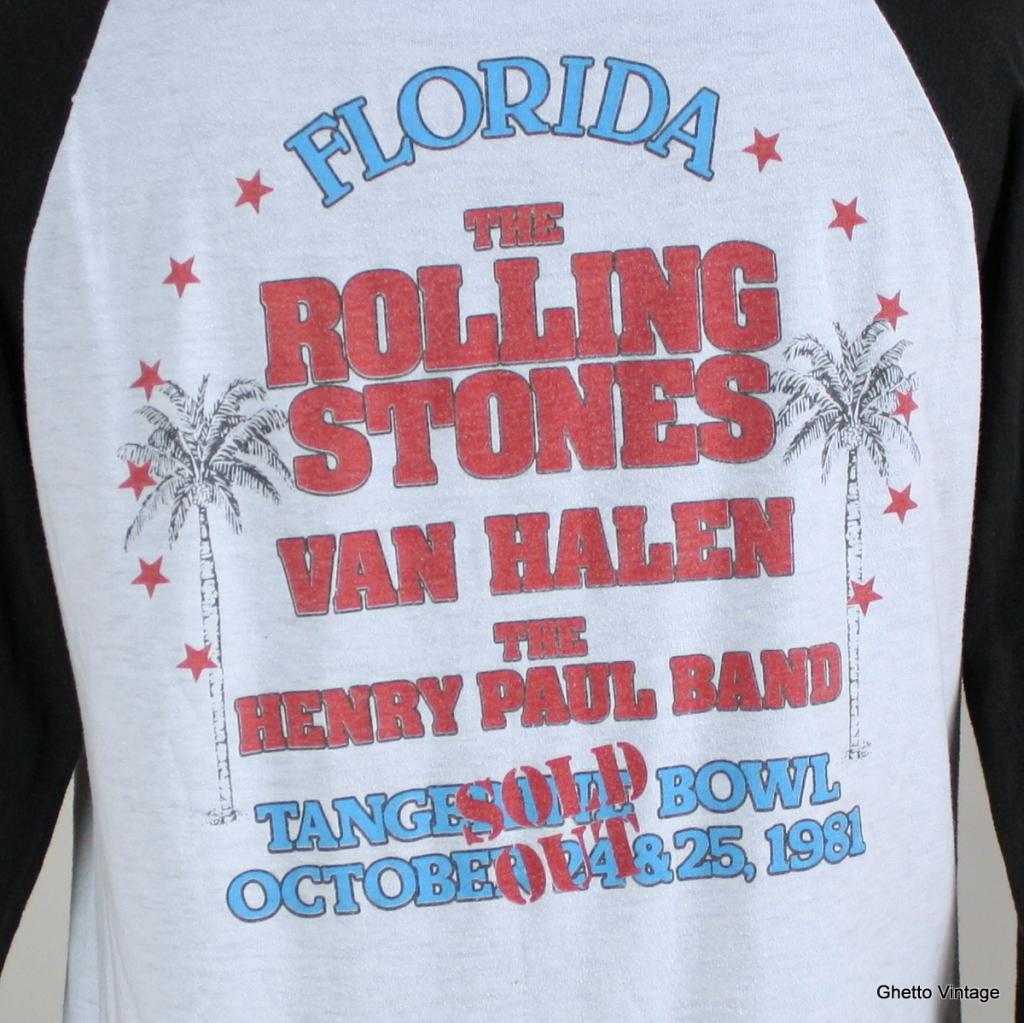 10/24 and 10/25/1981 Rolling Stones shirt