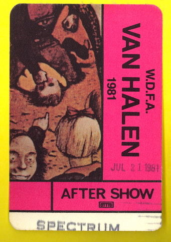 7/21/1981 Backstage Pass Philly Spectrum