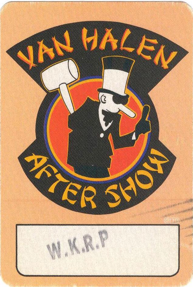 3/9/1984 Van Halen backstage pass