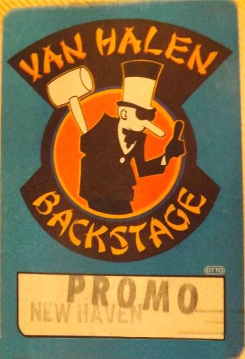 3/24/1984 Van Halen backstage pass