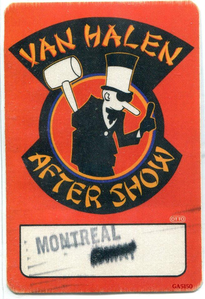 4/19/1984 Van Halen backstage pass