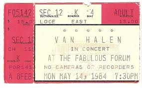 May 14, 1984 ticket