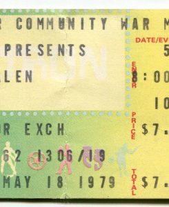 5/18/1979 Van Halen ticket