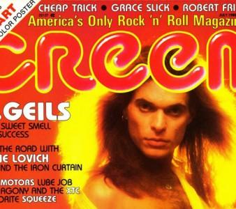 1980 – Creem Magazine David Lee Roth cover (May)