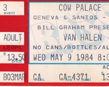 Van Halen Ticket - May 9, 1984